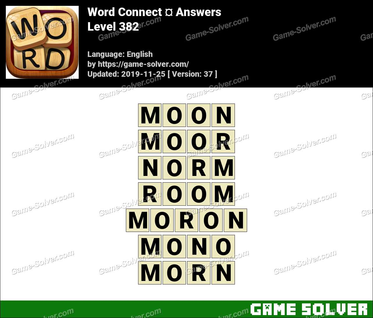 Word Connect Level 382 Answers
