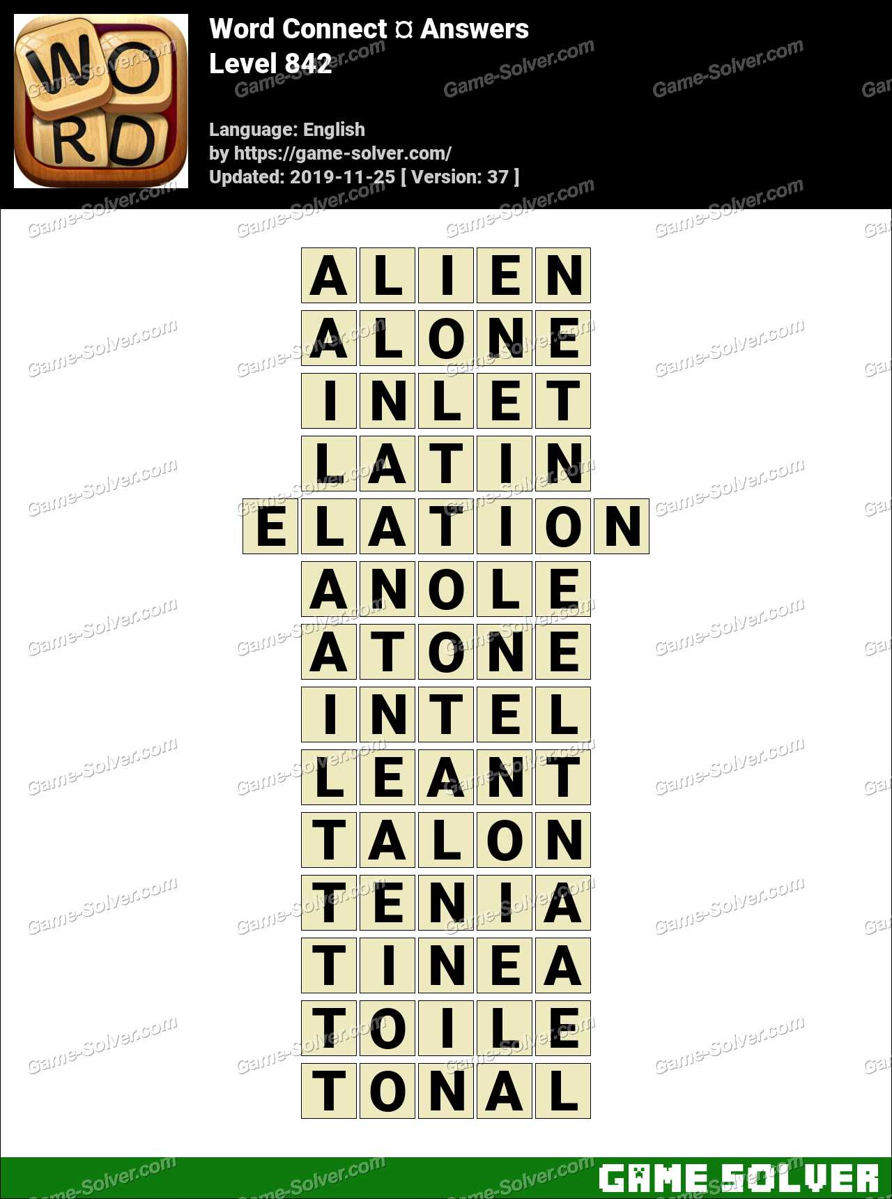 Word Connect Level 842 Answers