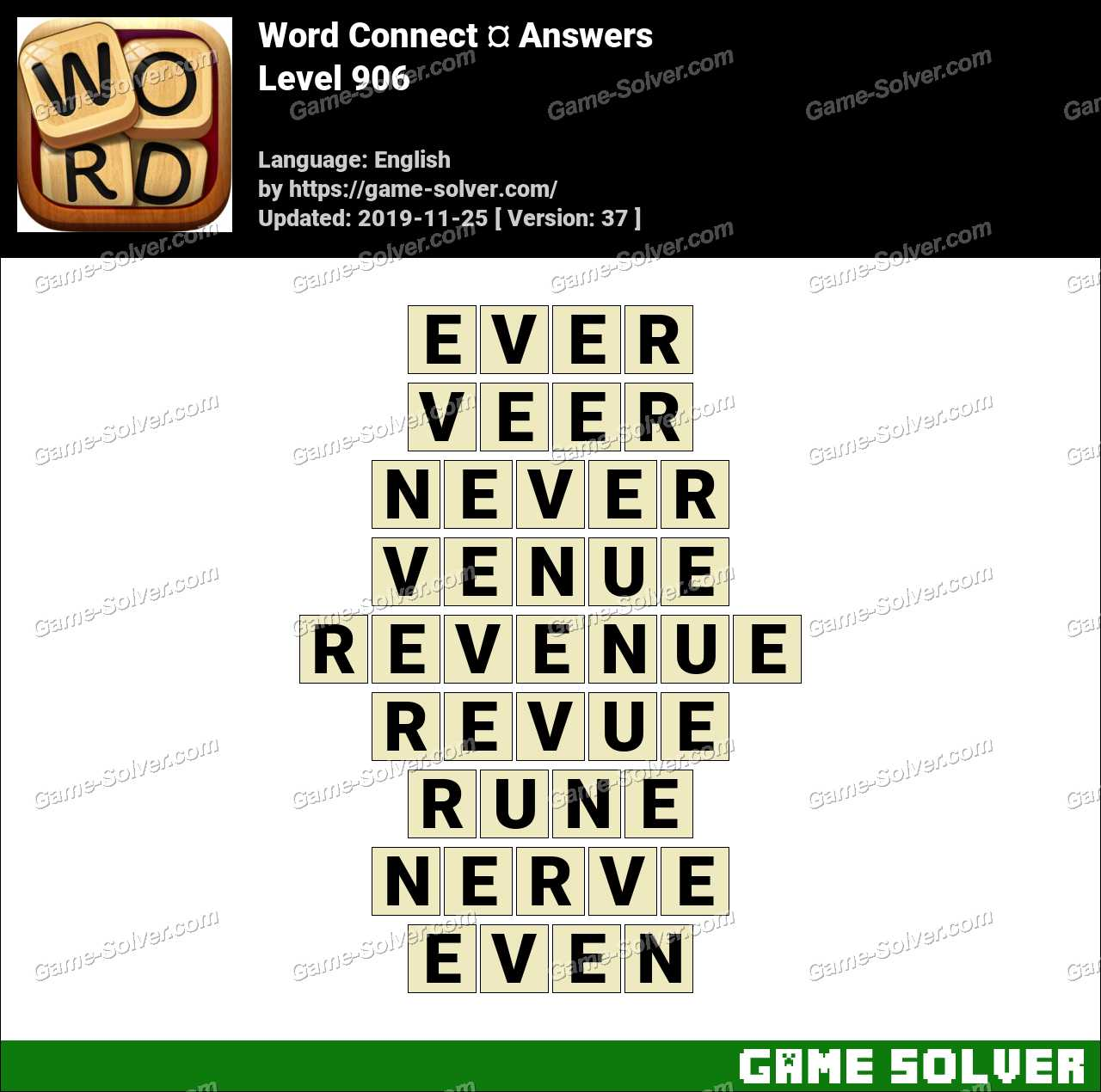 Word Connect Level 906 Answers