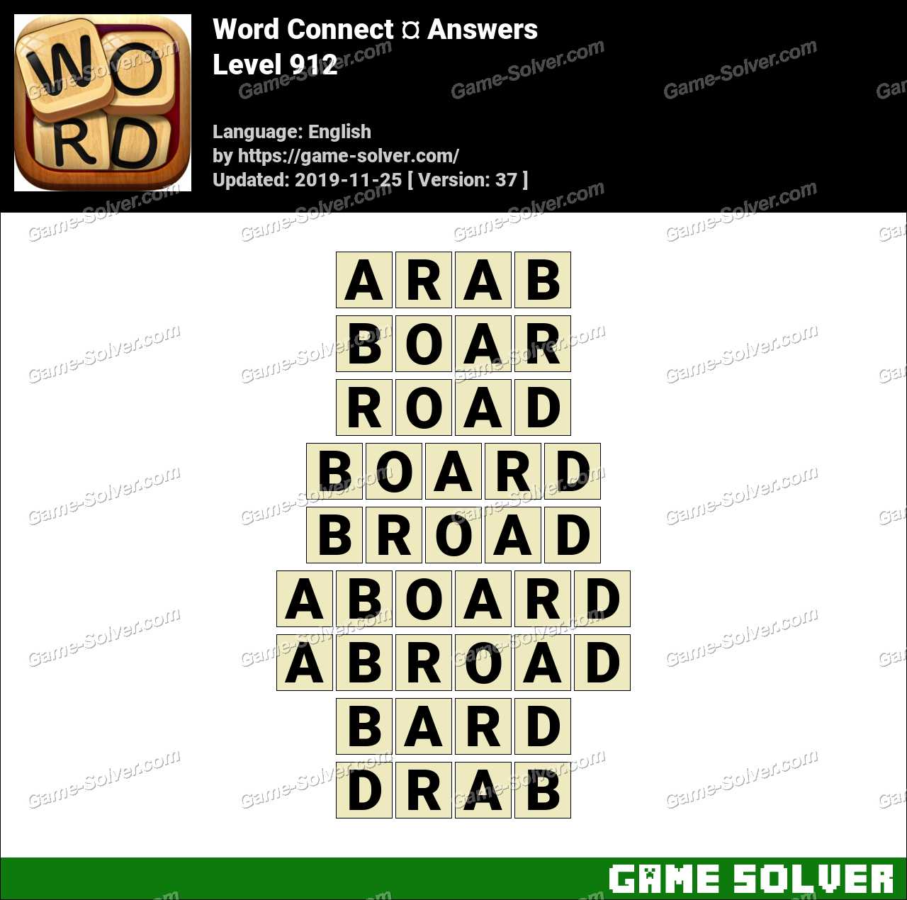 Word Connect Level 912 Answers