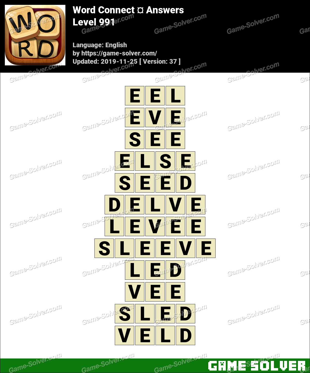 Word Connect Level 991 Answers