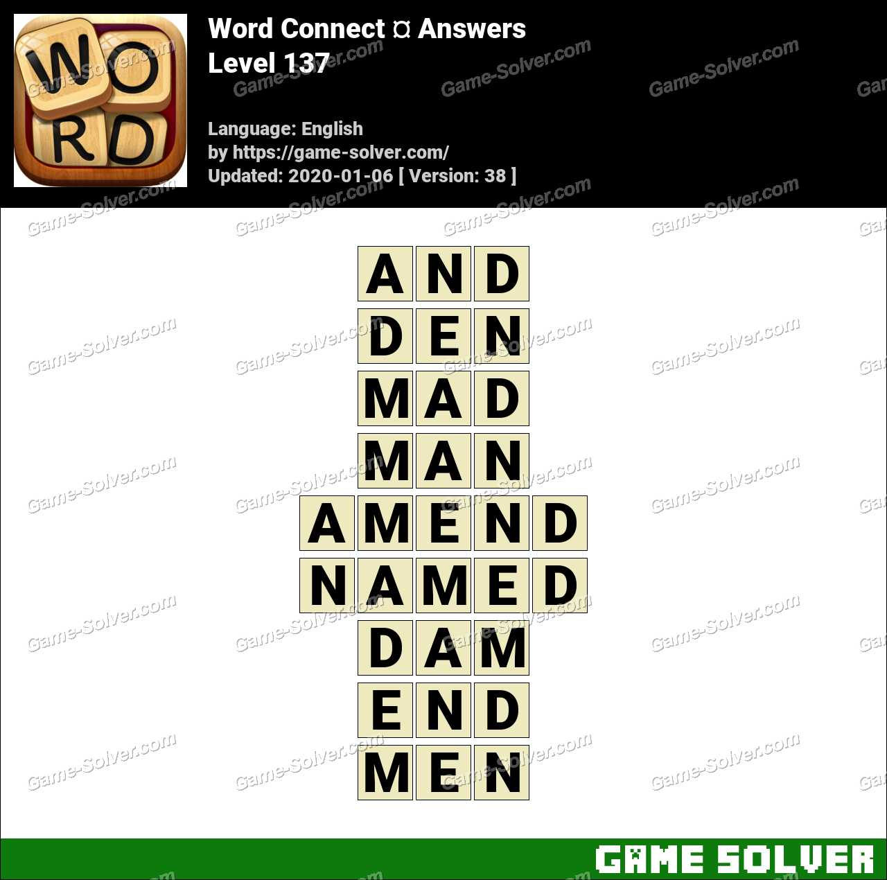 Word Connect Level 137 Answers