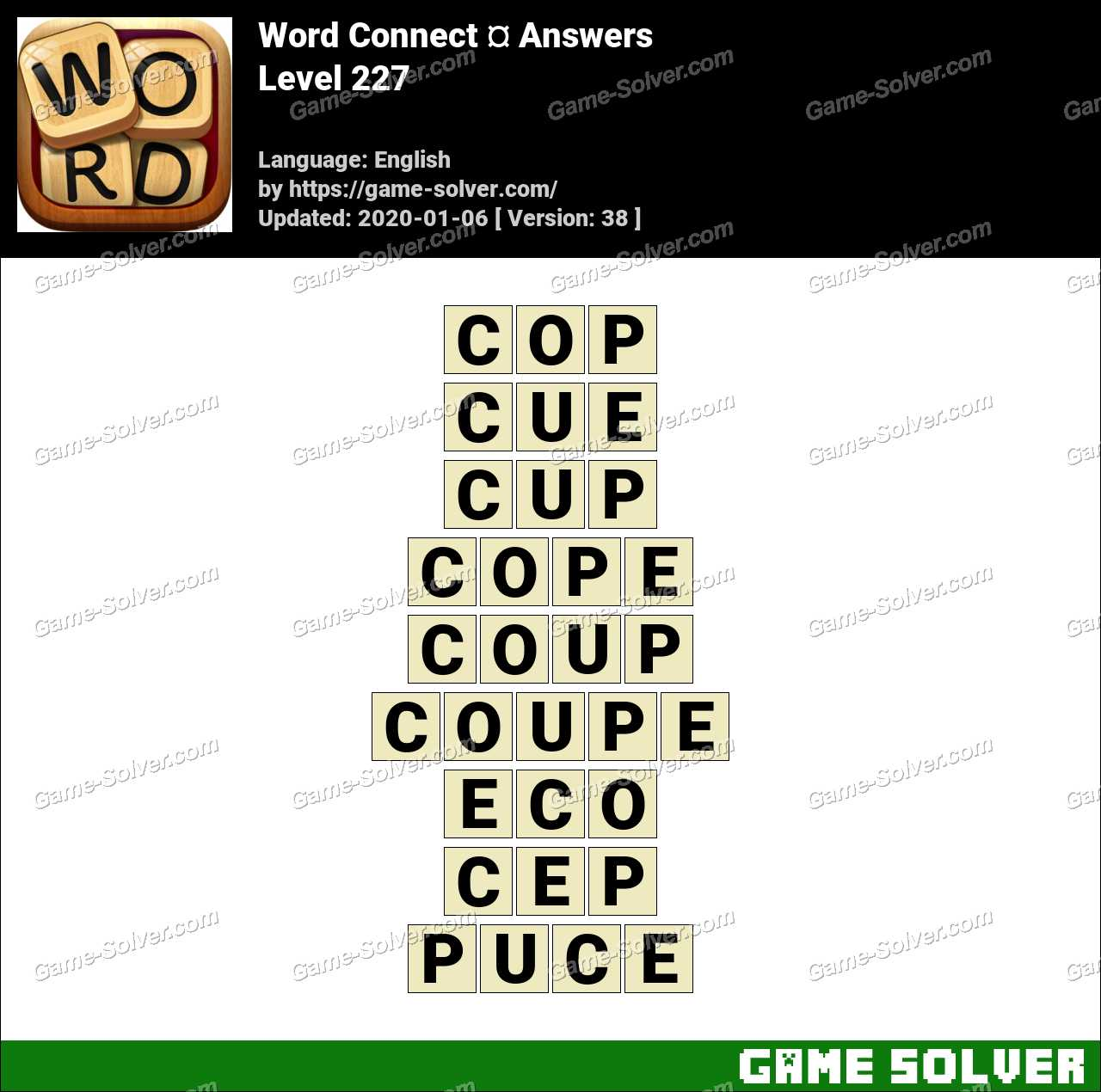 Word Connect Level 227 Answers