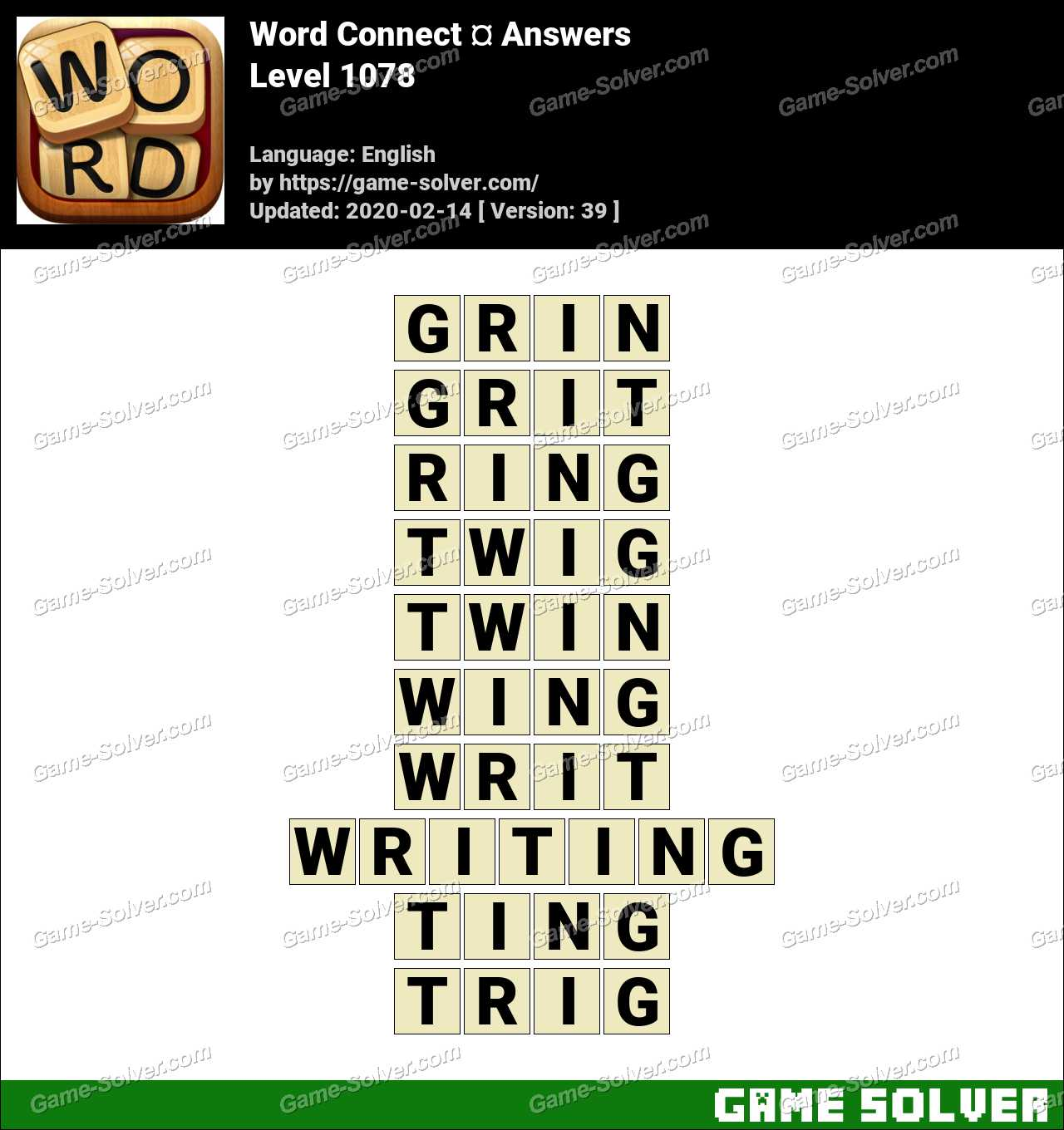 Word Connect Level 1078 Answers