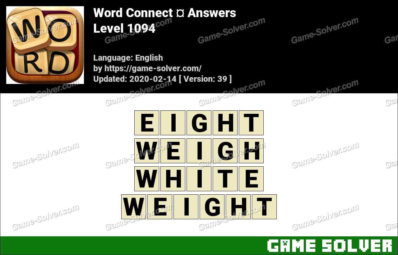 Word Connect Level 1094 Answers