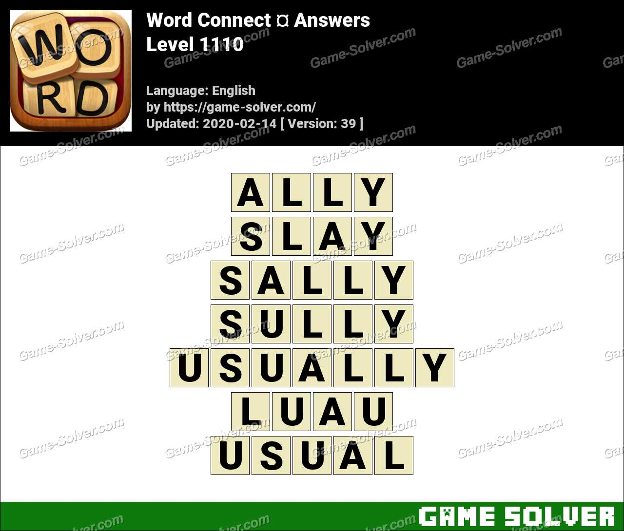 Word Connect Level 1110 Answers