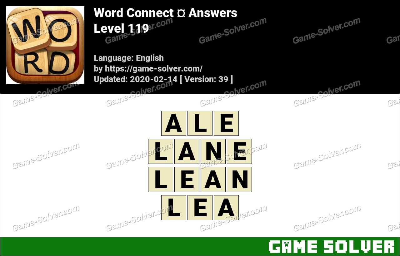 Word Connect Level 119 Answers