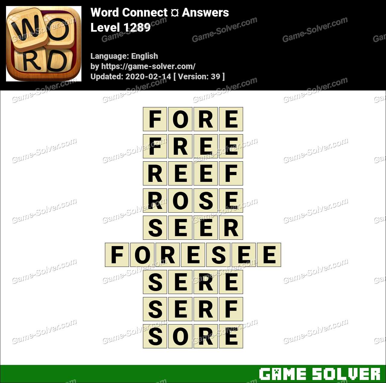 Word Connect Level 1289 Answers