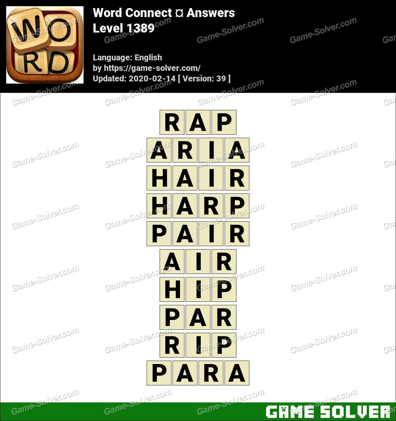 Word Connect Level 1389 Answers