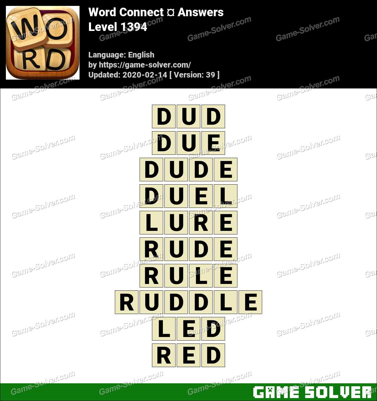 Word Connect Level 1394 Answers