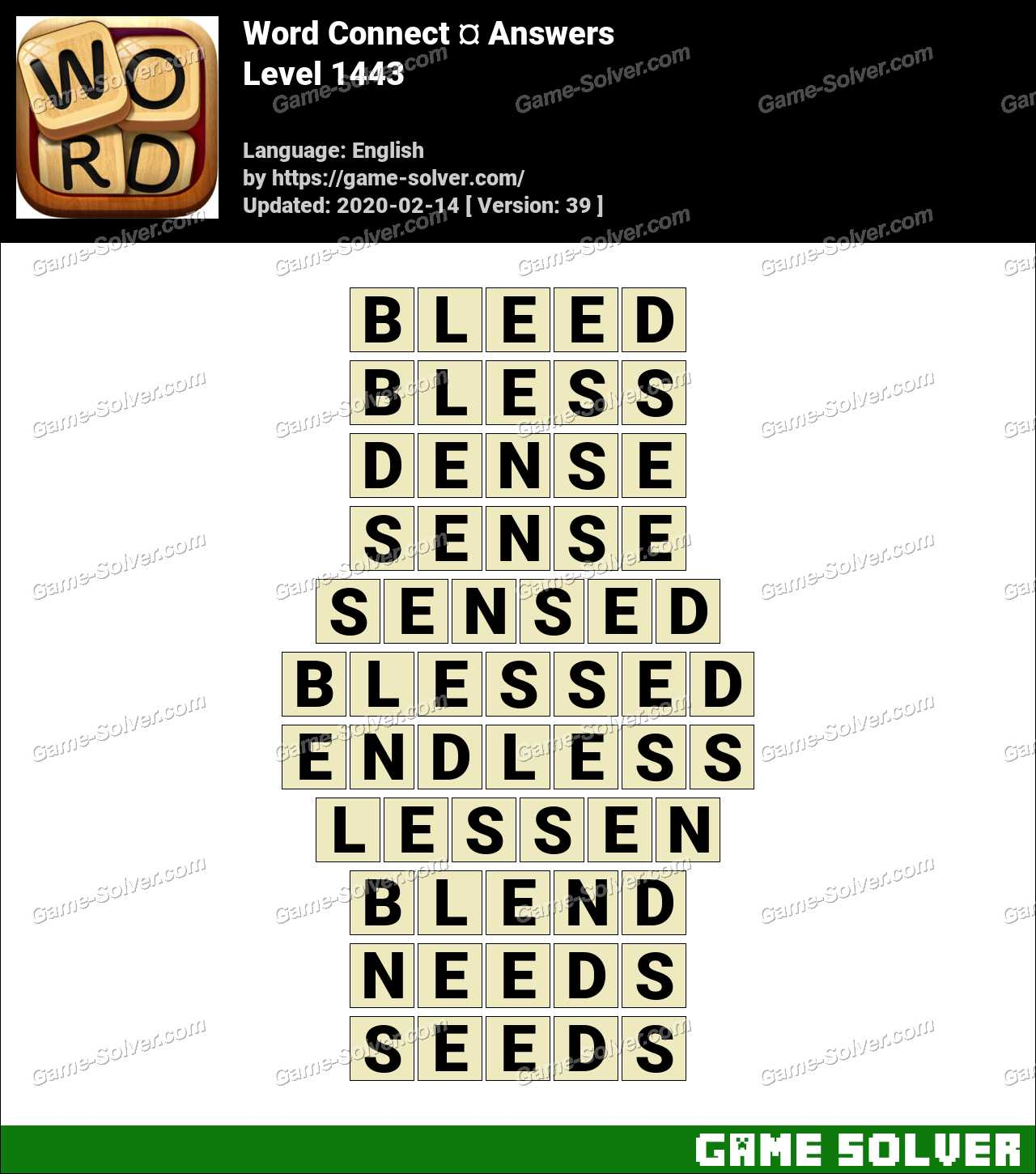 Word Connect Level 1443 Answers