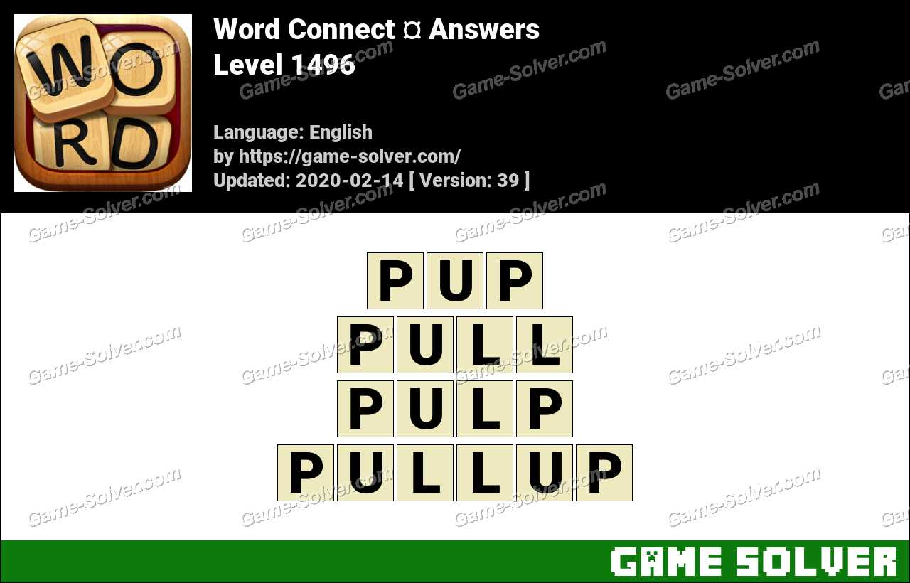 Word Connect Level 1496 Answers