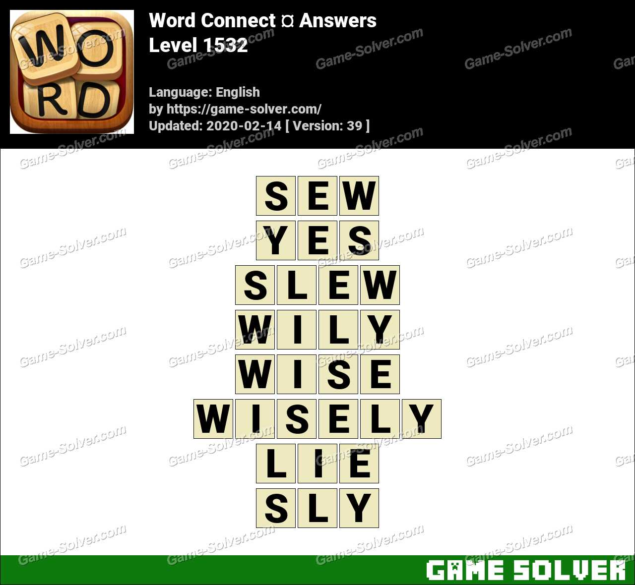 Word Connect Level 1532 Answers