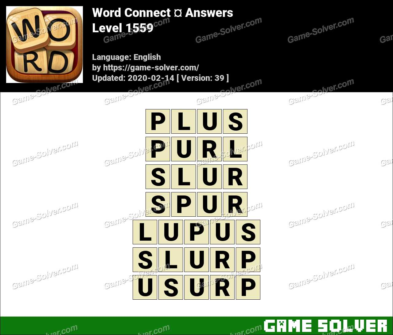 Word Connect Level 1559 Answers