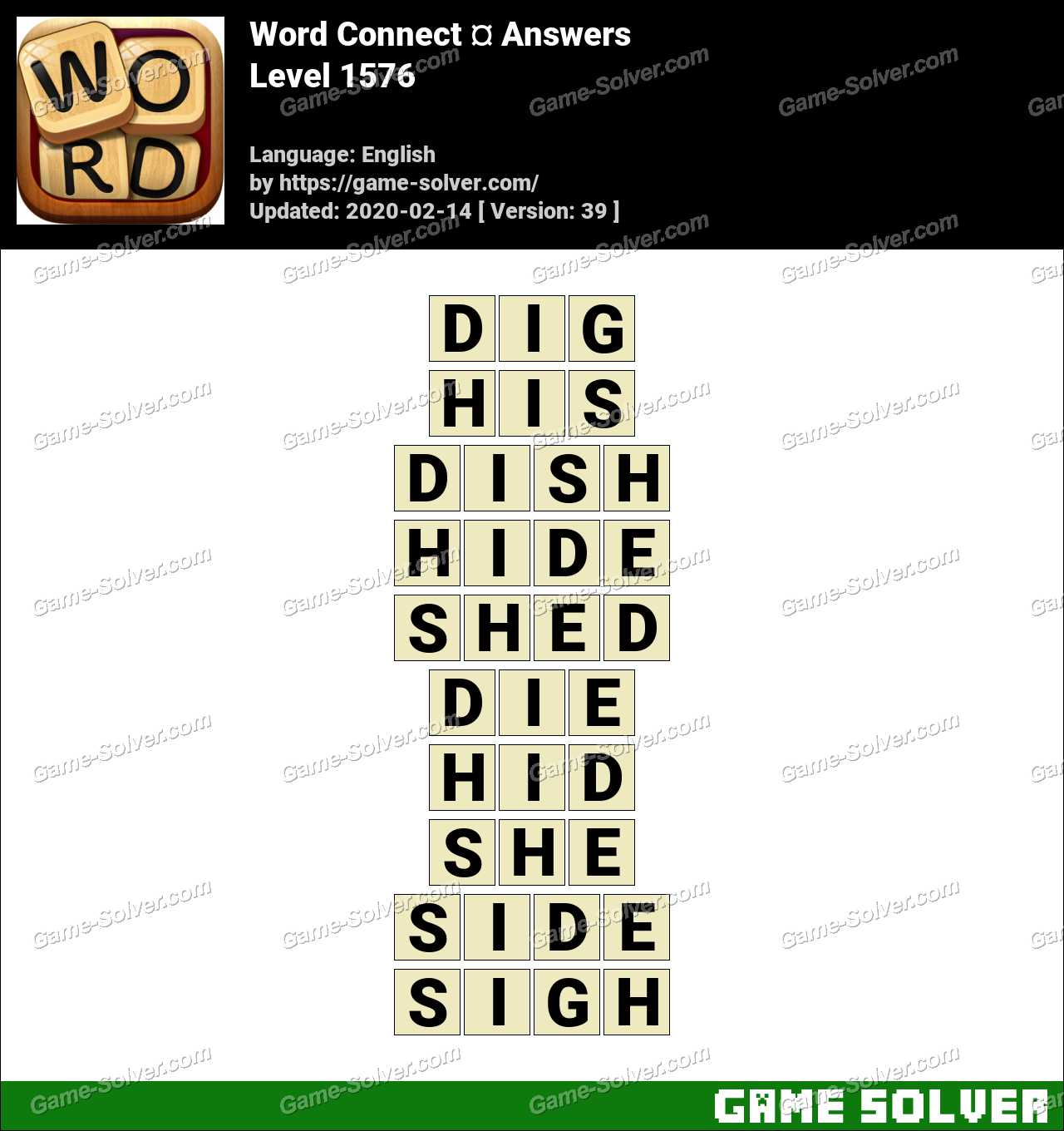 Word Connect Level 1576 Answers