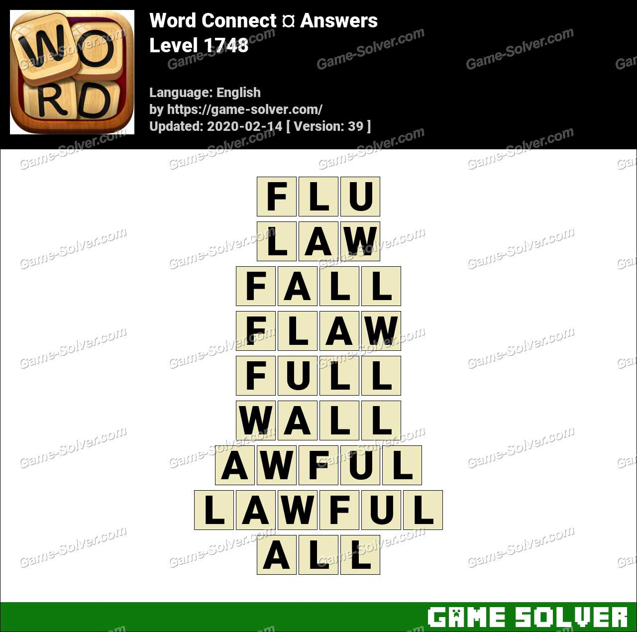 Word Connect Level 1748 Answers