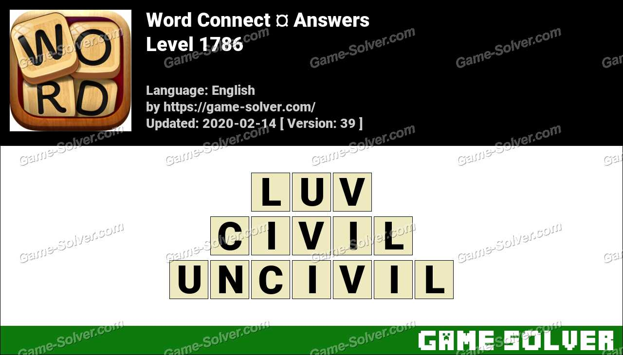 Word Connect Level 1786 Answers