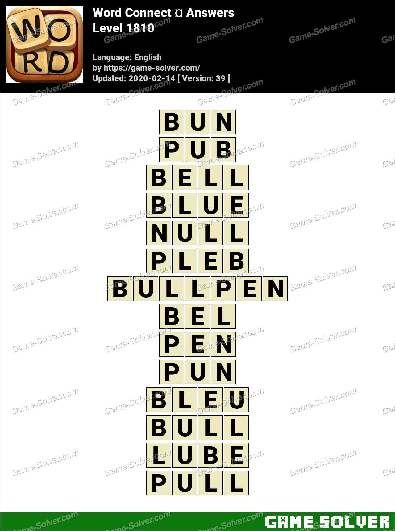 Word Connect Level 1810 Answers