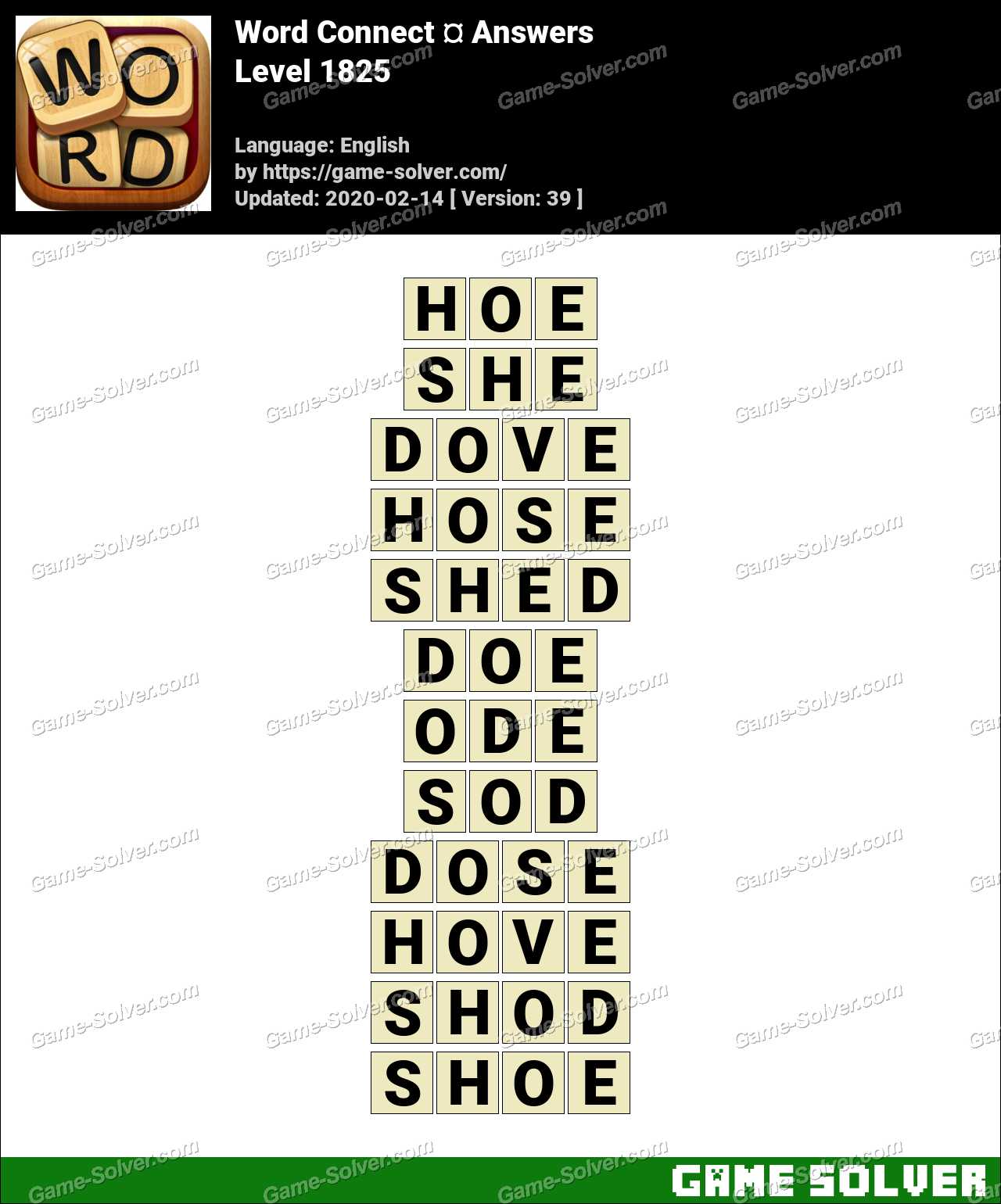 Word Connect Level 1825 Answers