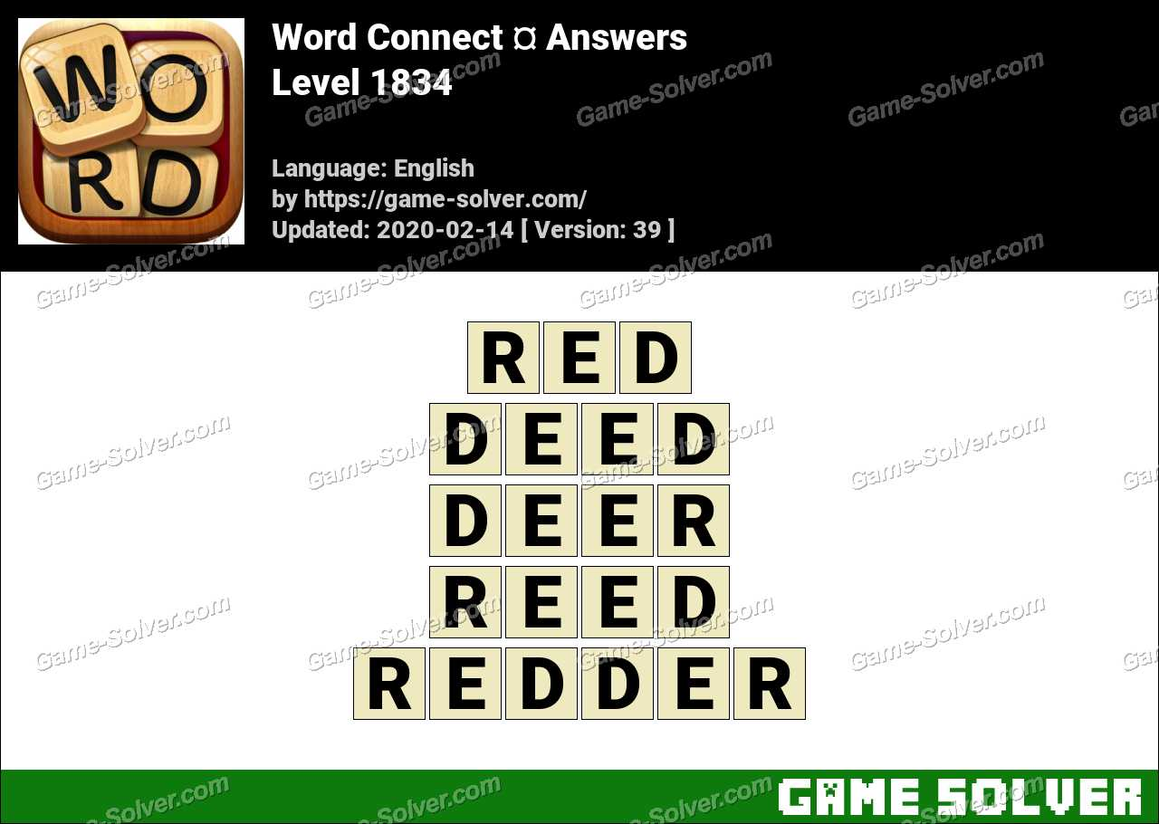 Word Connect Level 1834 Answers