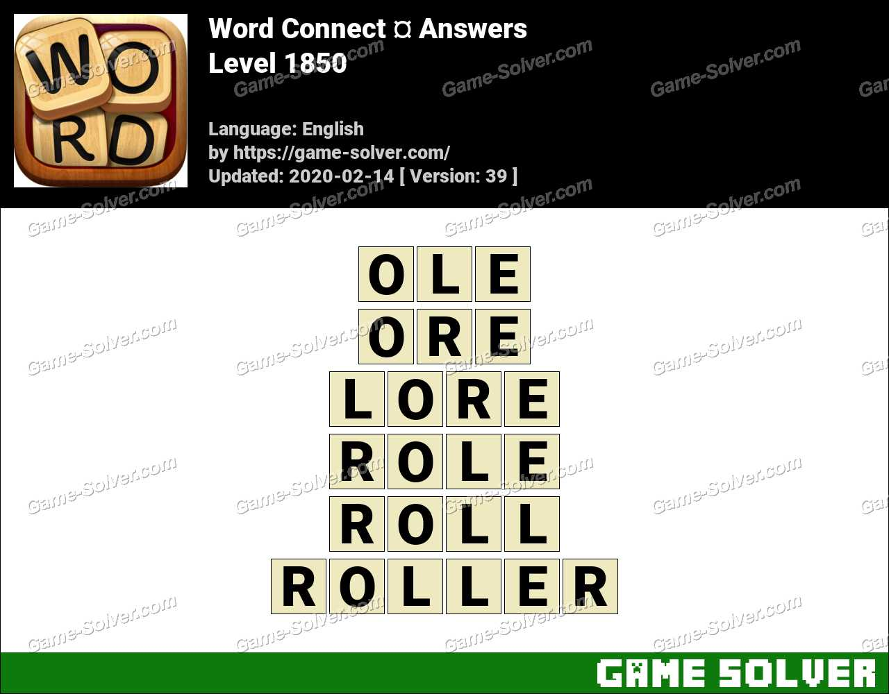 Word Connect Level 1850 Answers