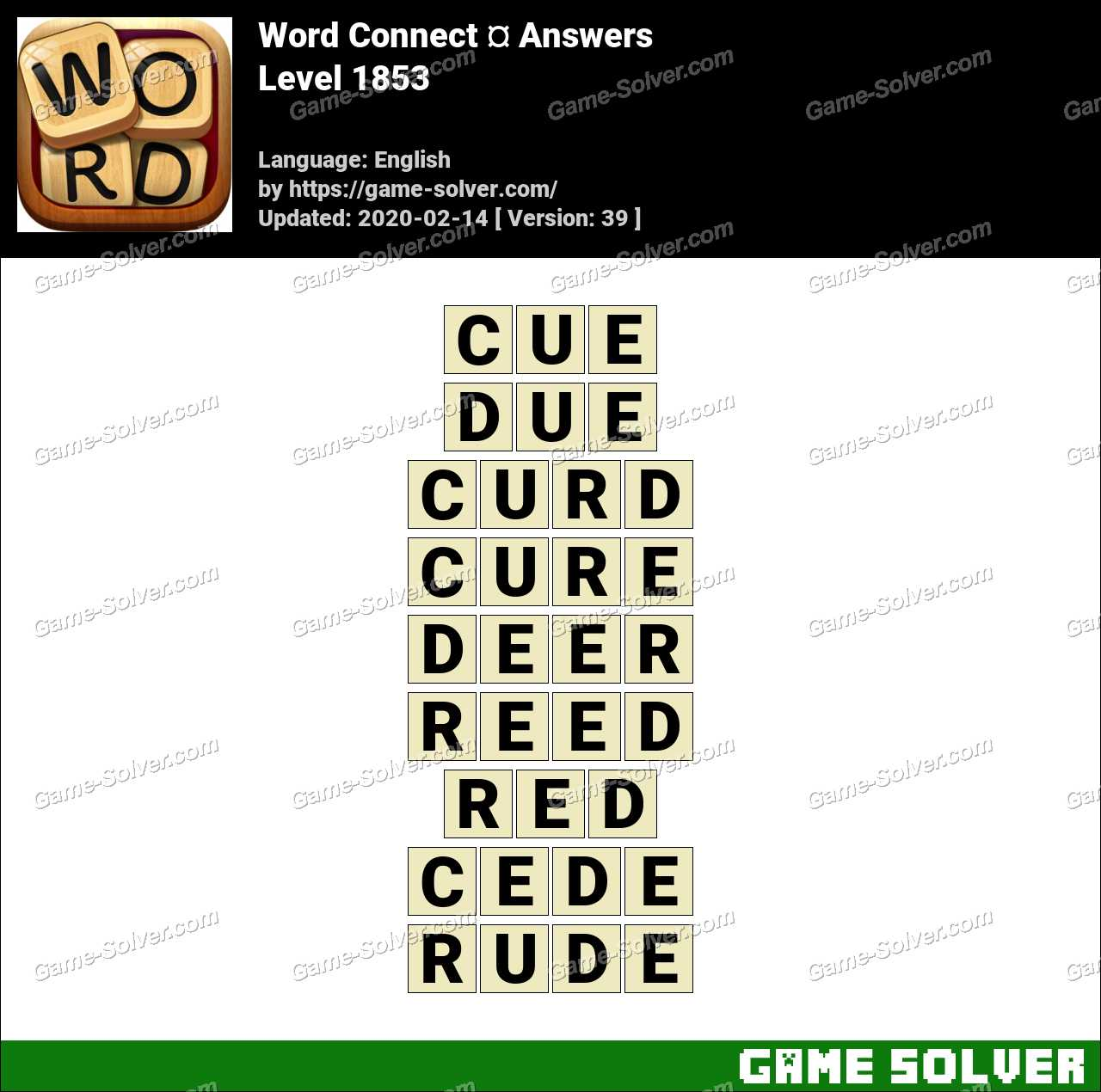 Word Connect Level 1853 Answers