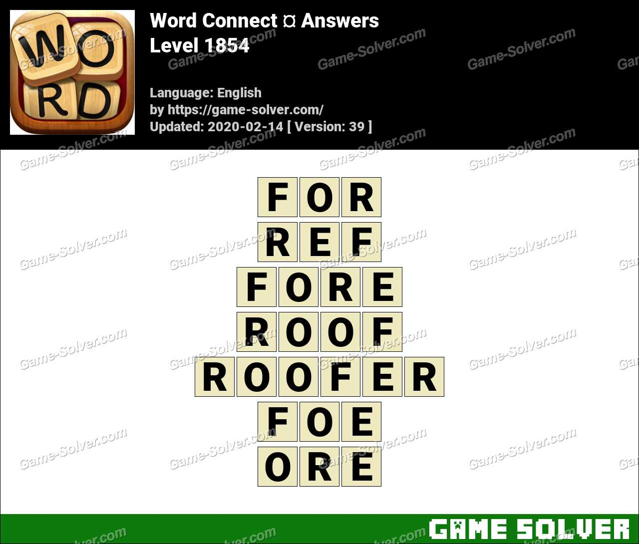 Word Connect Level 1854 Answers