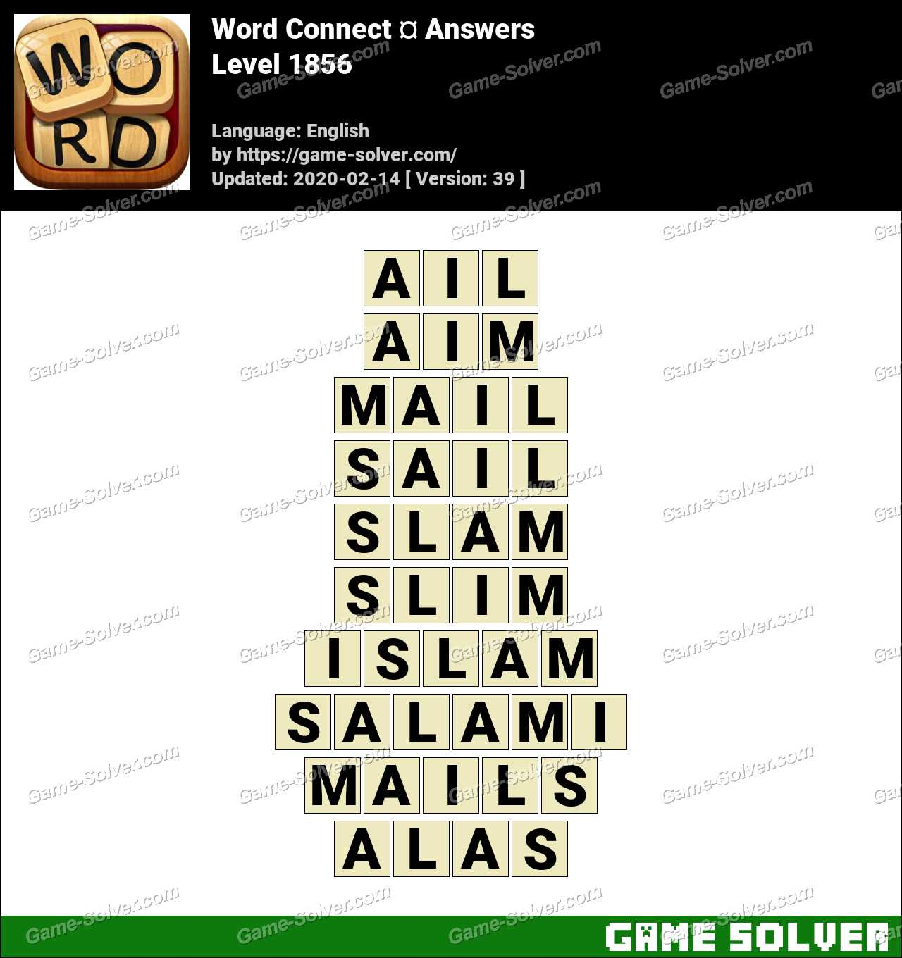 Word Connect Level 1856 Answers