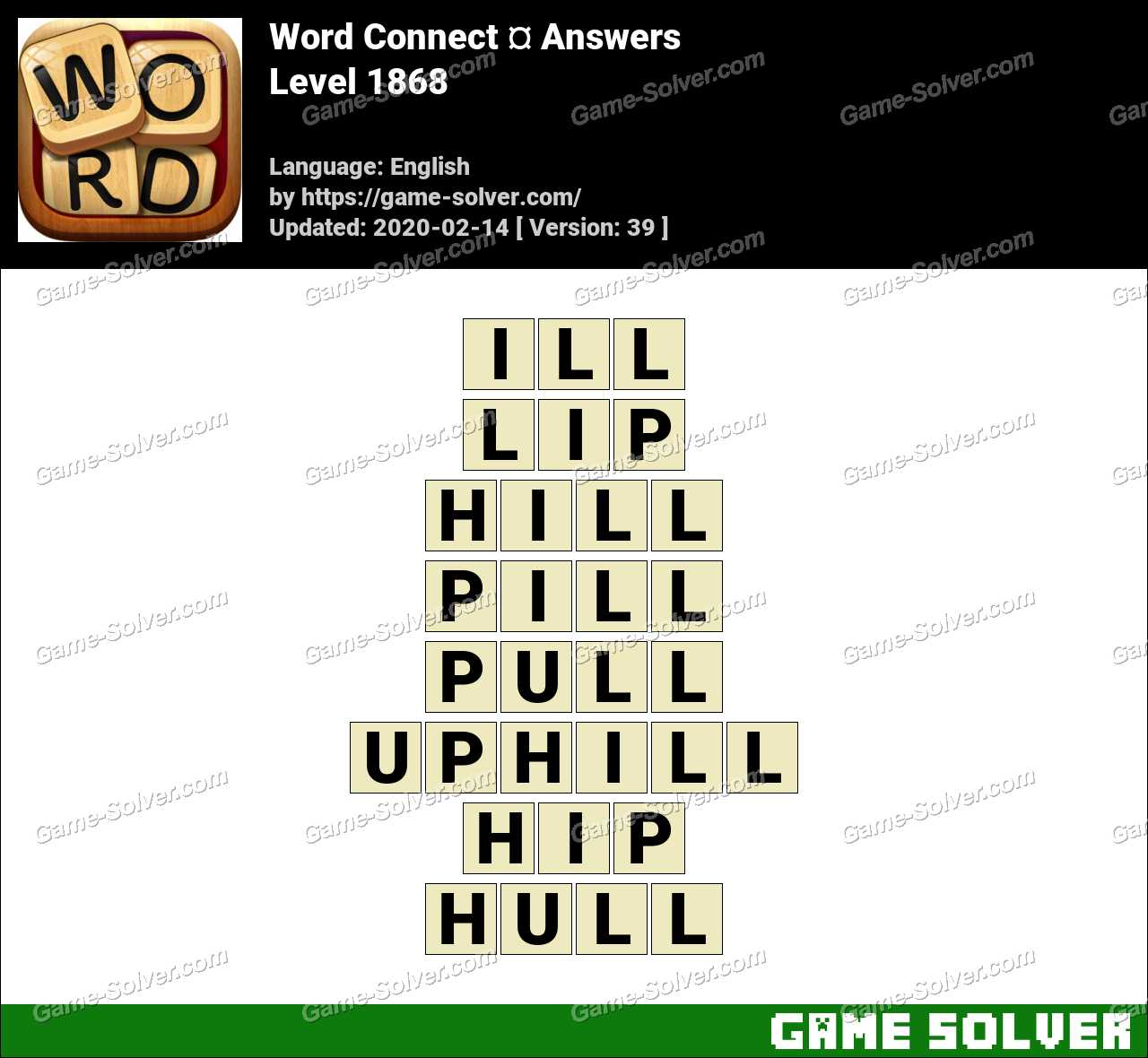 Word Connect Level 1868 Answers