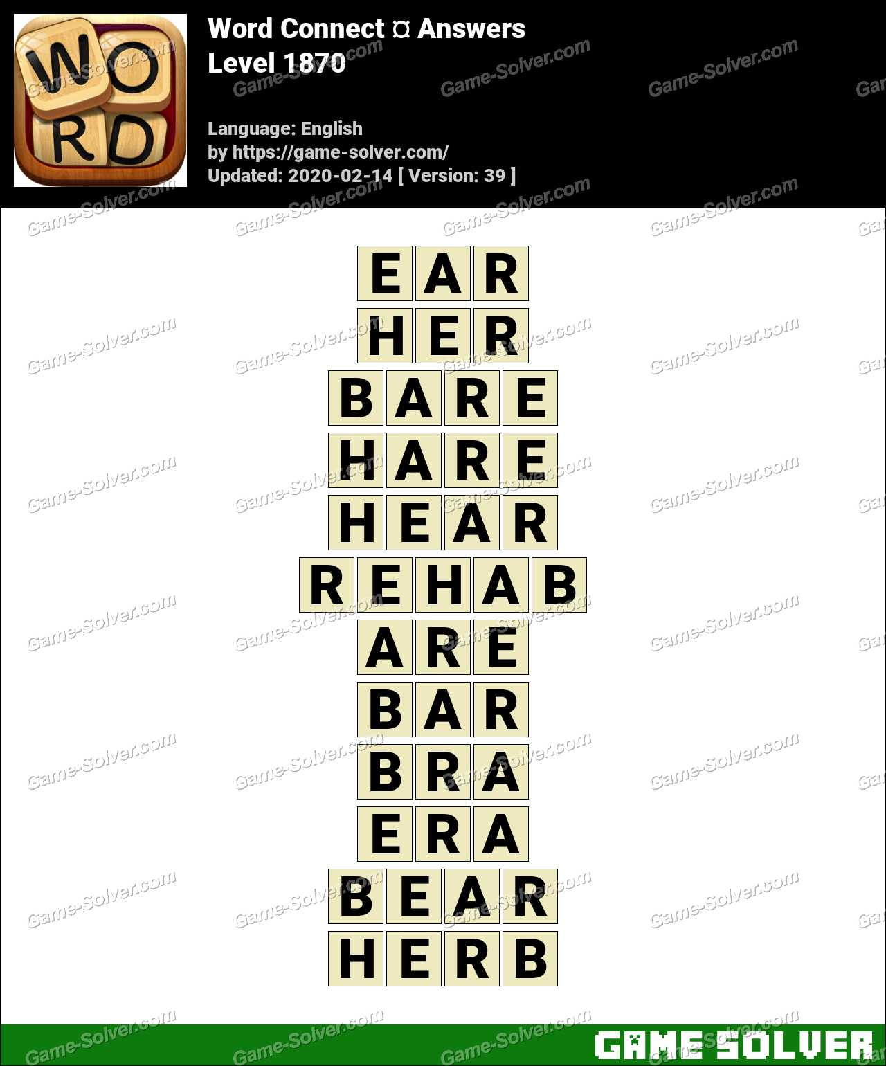 Word Connect Level 1870 Answers