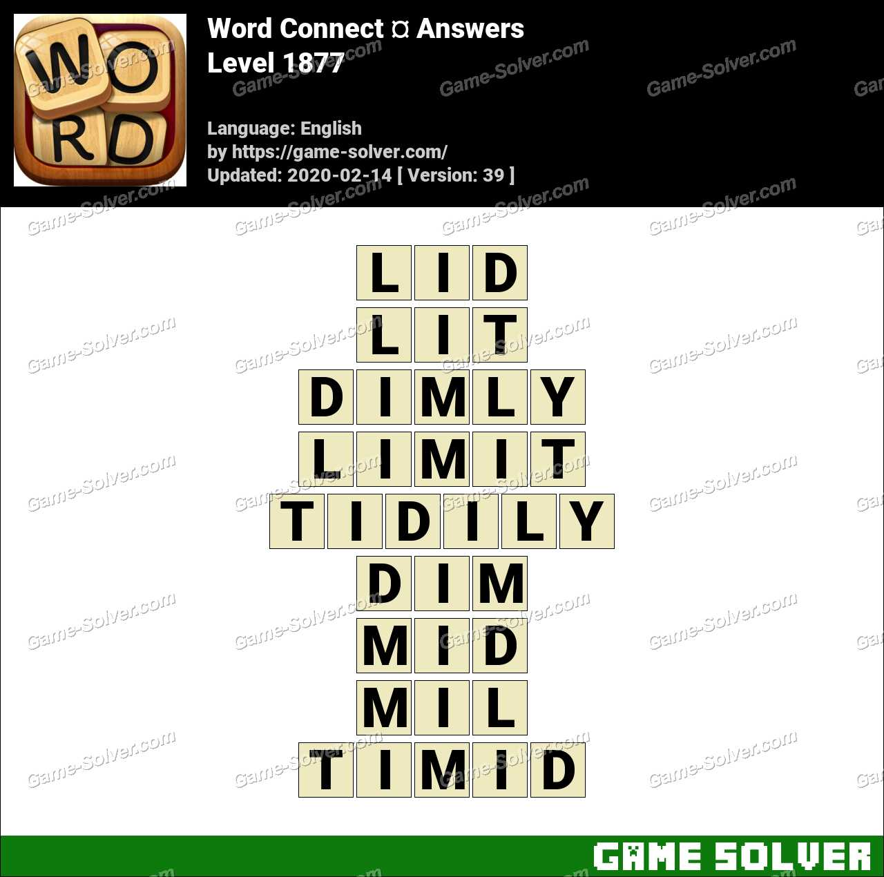 Word Connect Level 1877 Answers