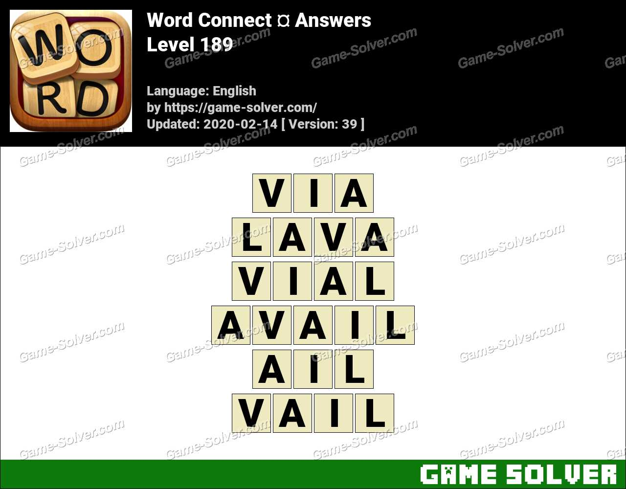 Word Connect Level 189 Answers