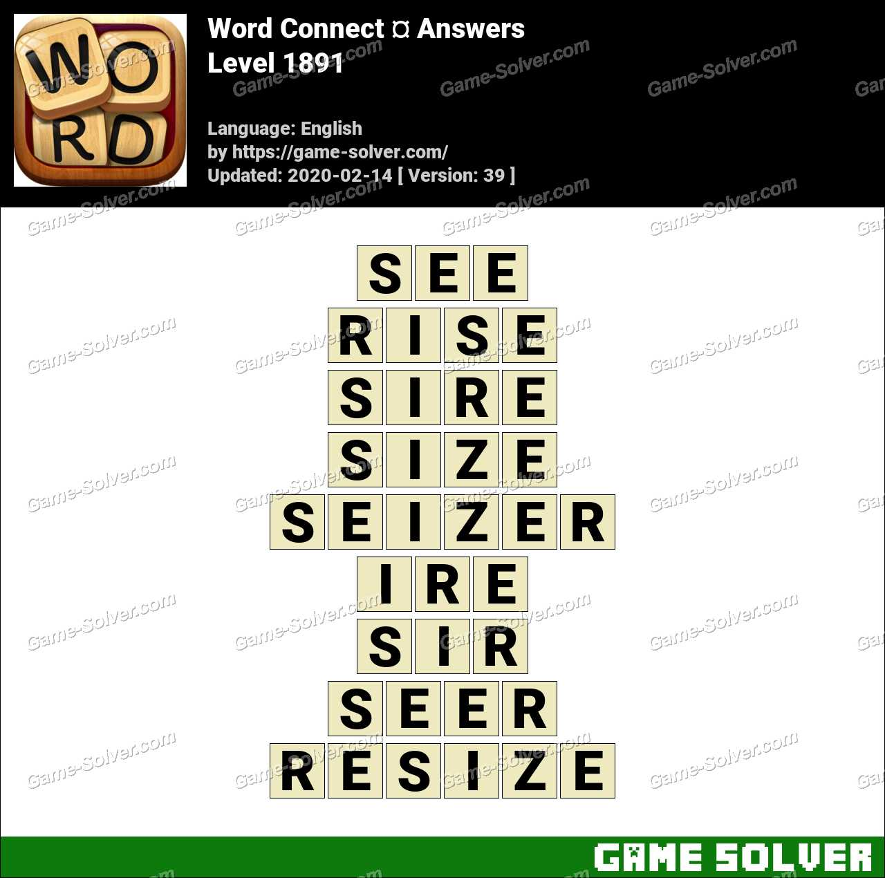 Word Connect Level 1891 Answers