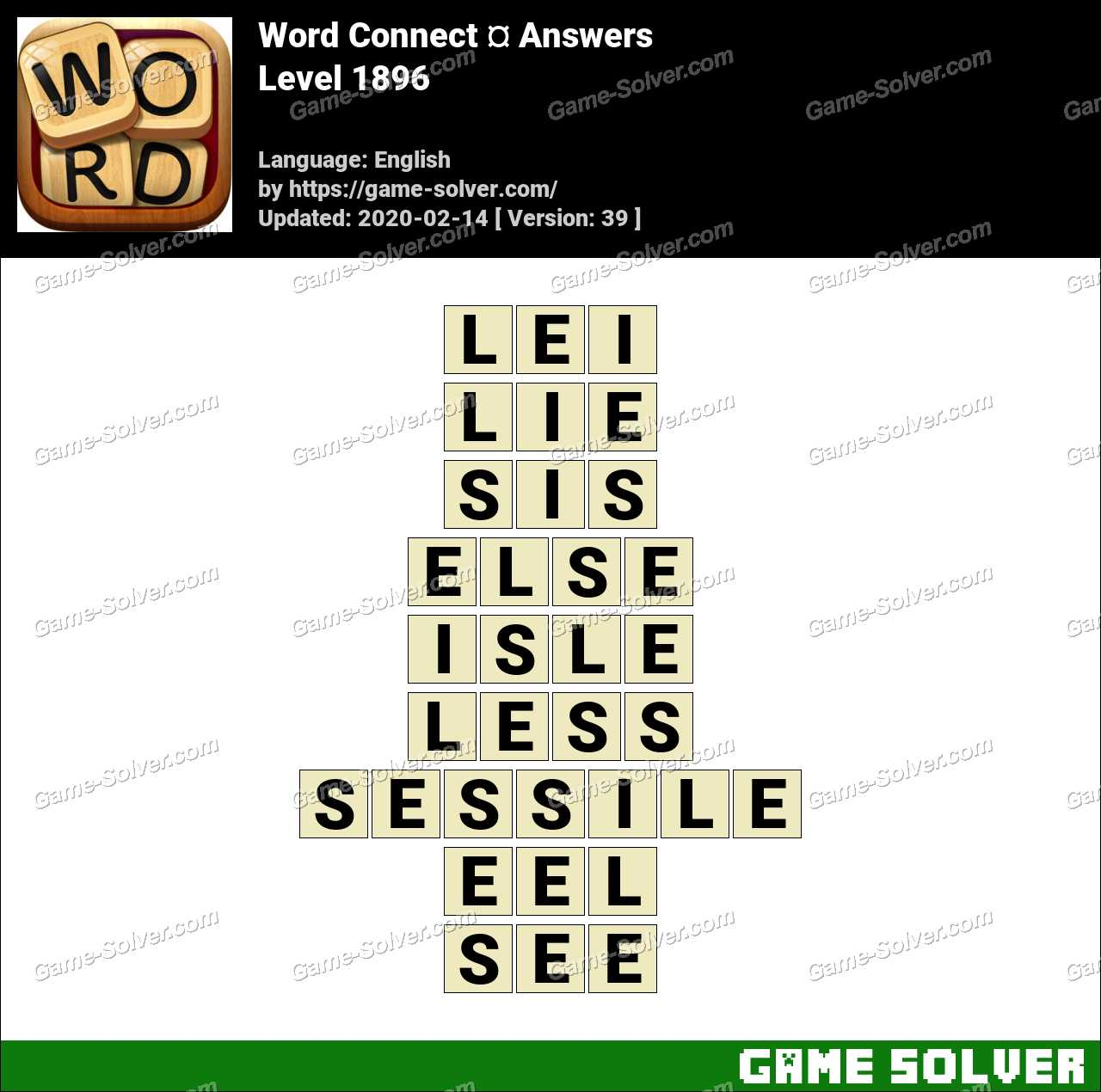 Word Connect Level 1896 Answers