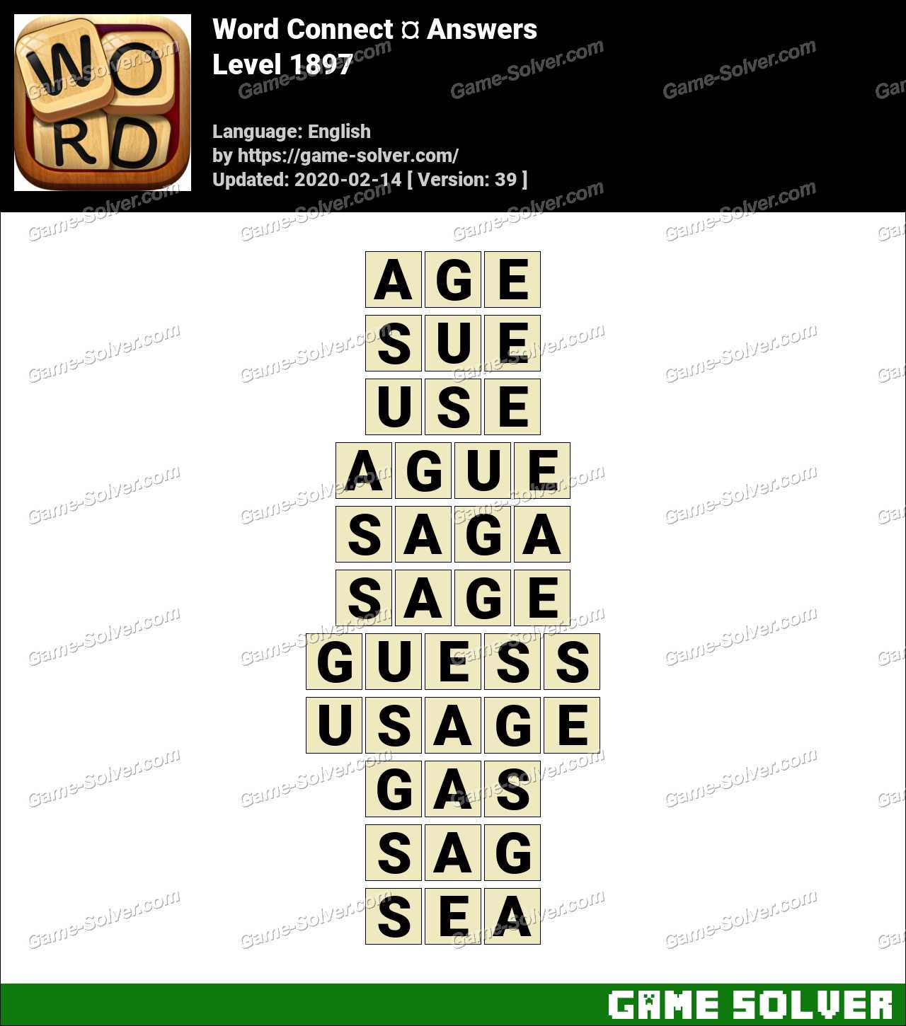 Word Connect Level 1897 Answers
