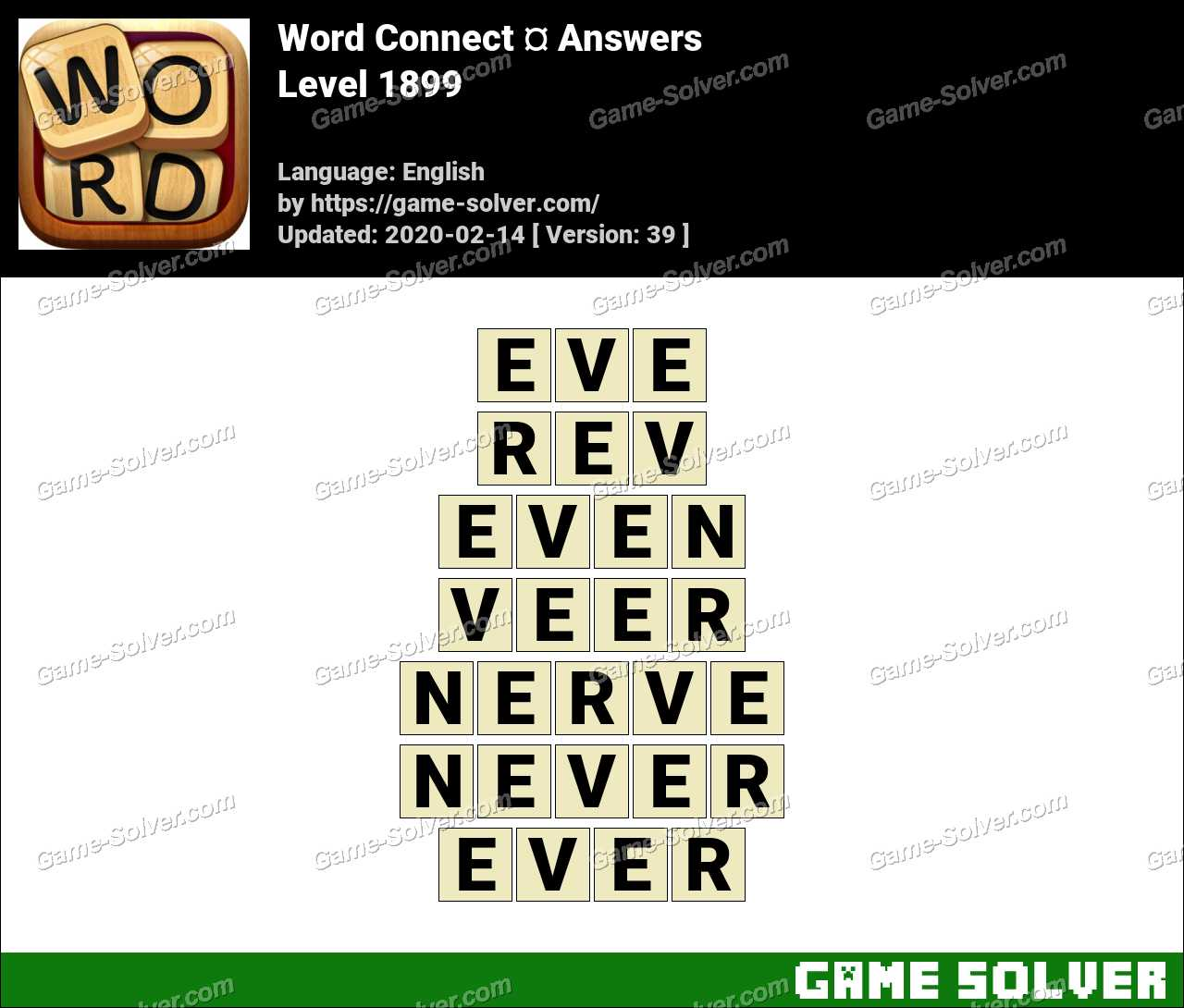 Word Connect Level 1899 Answers