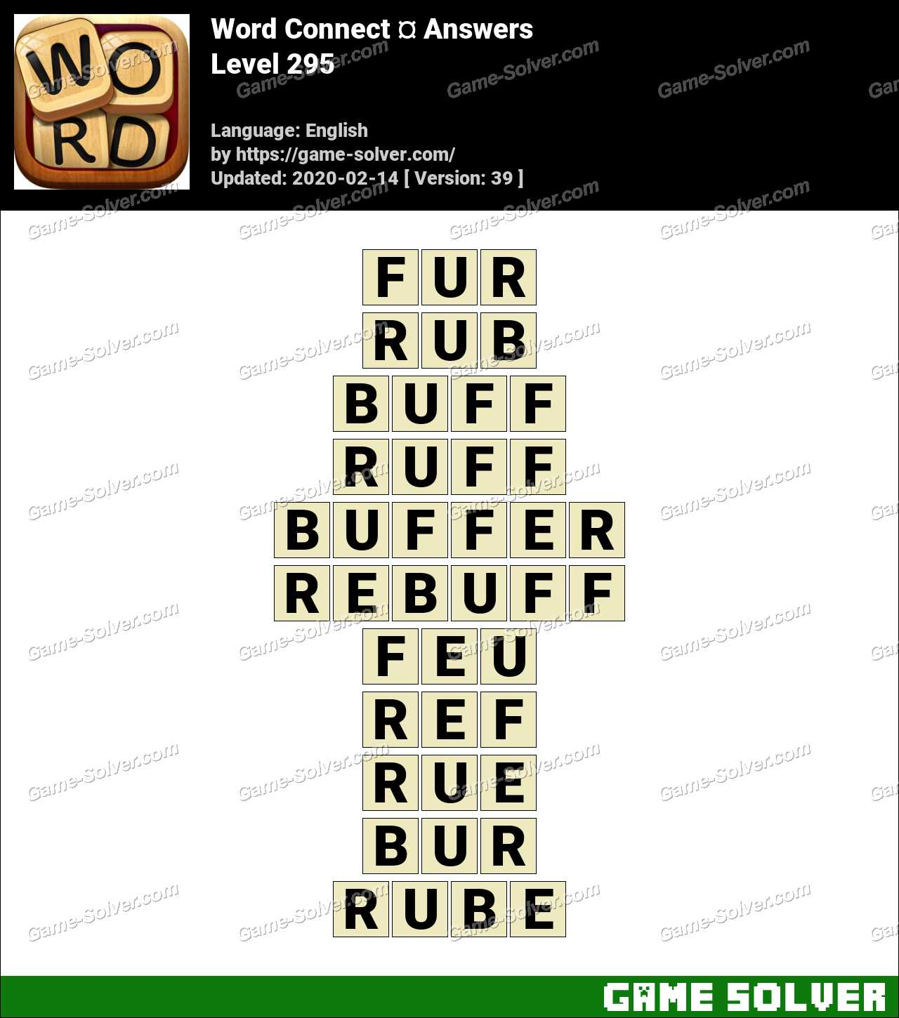 Word Connect Level 295 Answers