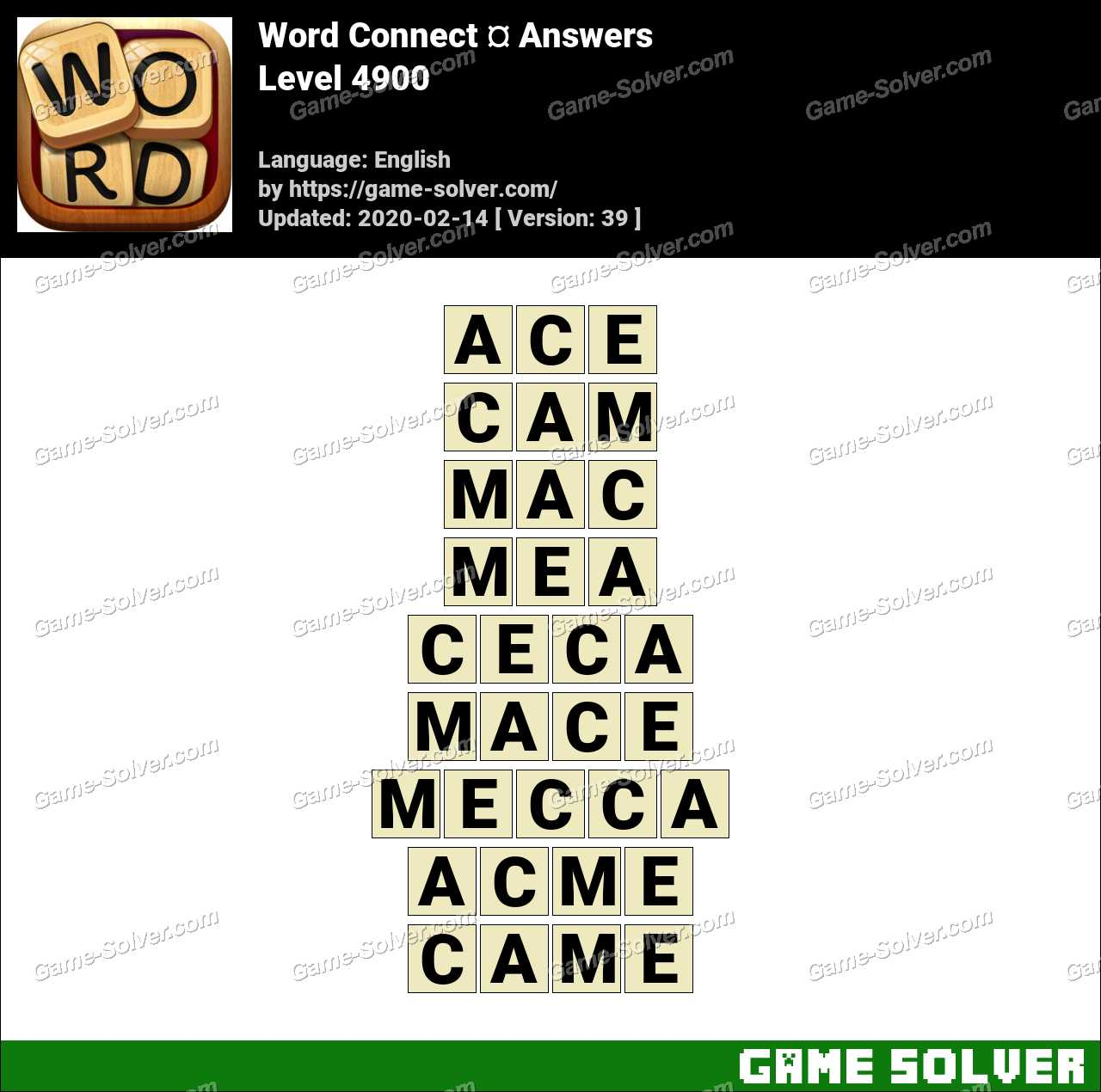 Word Connect Level 4900 Answers
