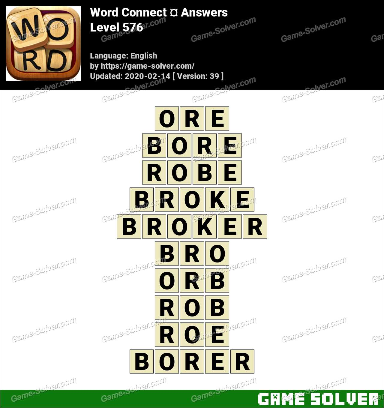 Word Connect Level 576 Answers