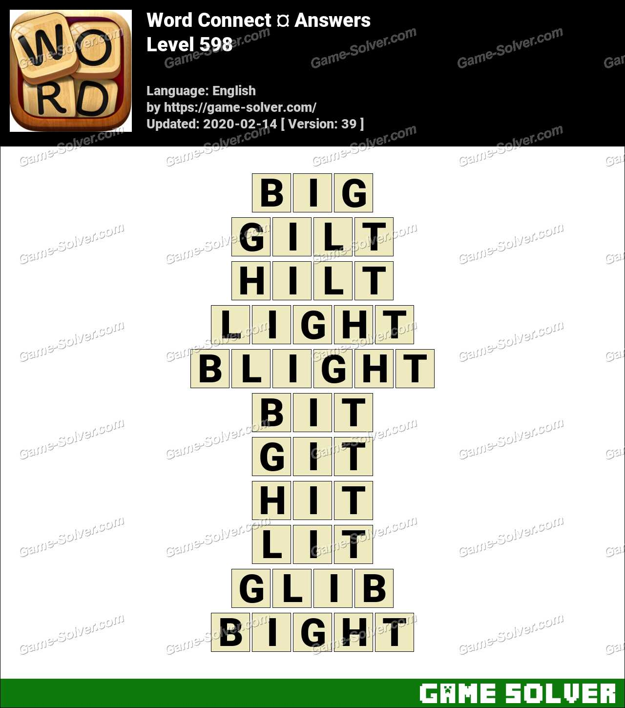Word Connect Level 598 Answers