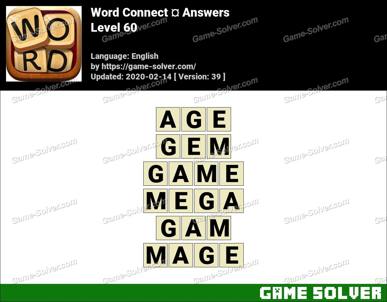 Word Connect Level 60 Answers
