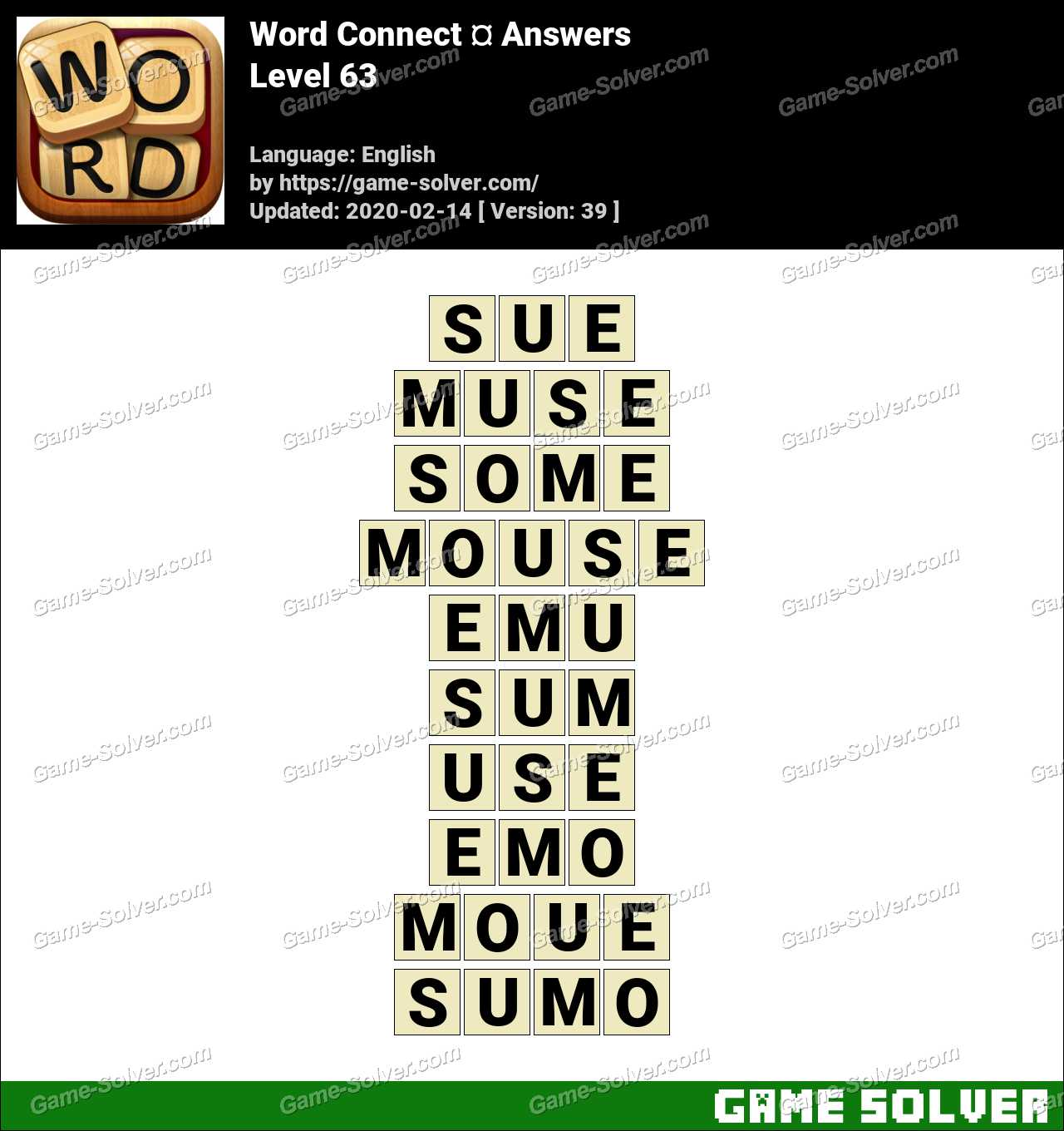Word Connect Level 63 Answers