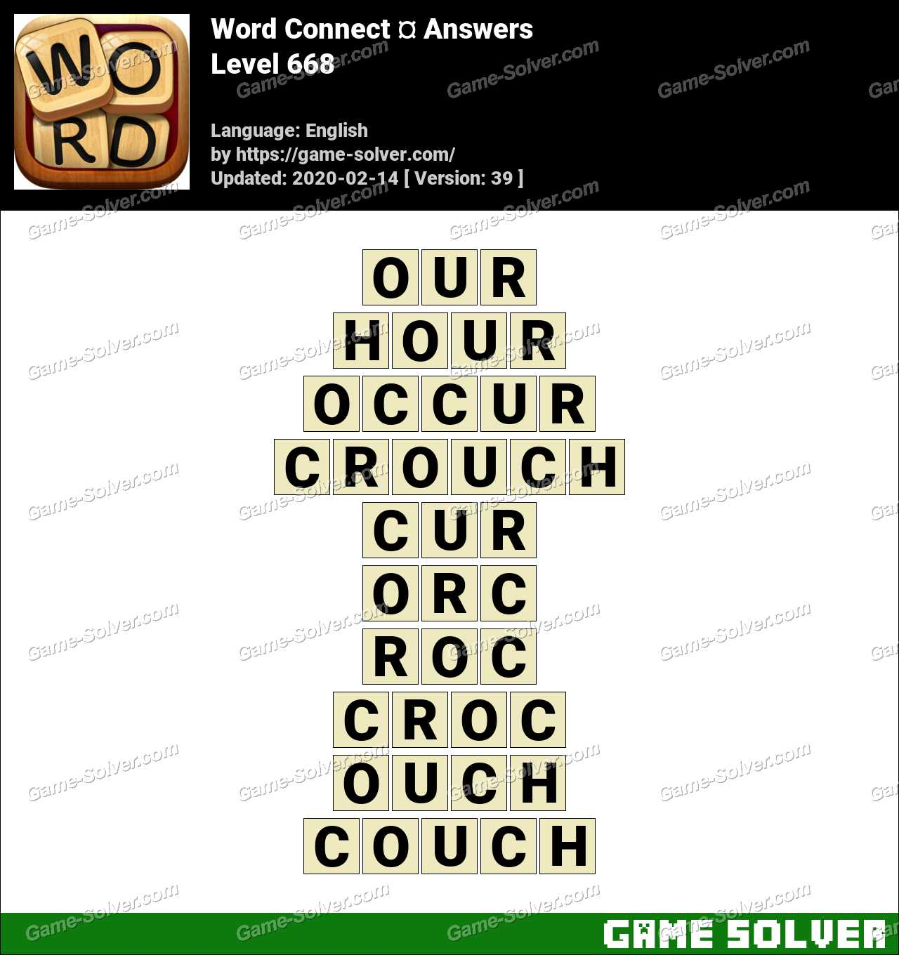 Word Connect Level 668 Answers