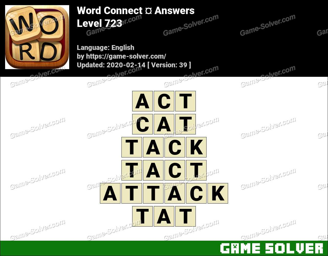 Word Connect Level 723 Answers