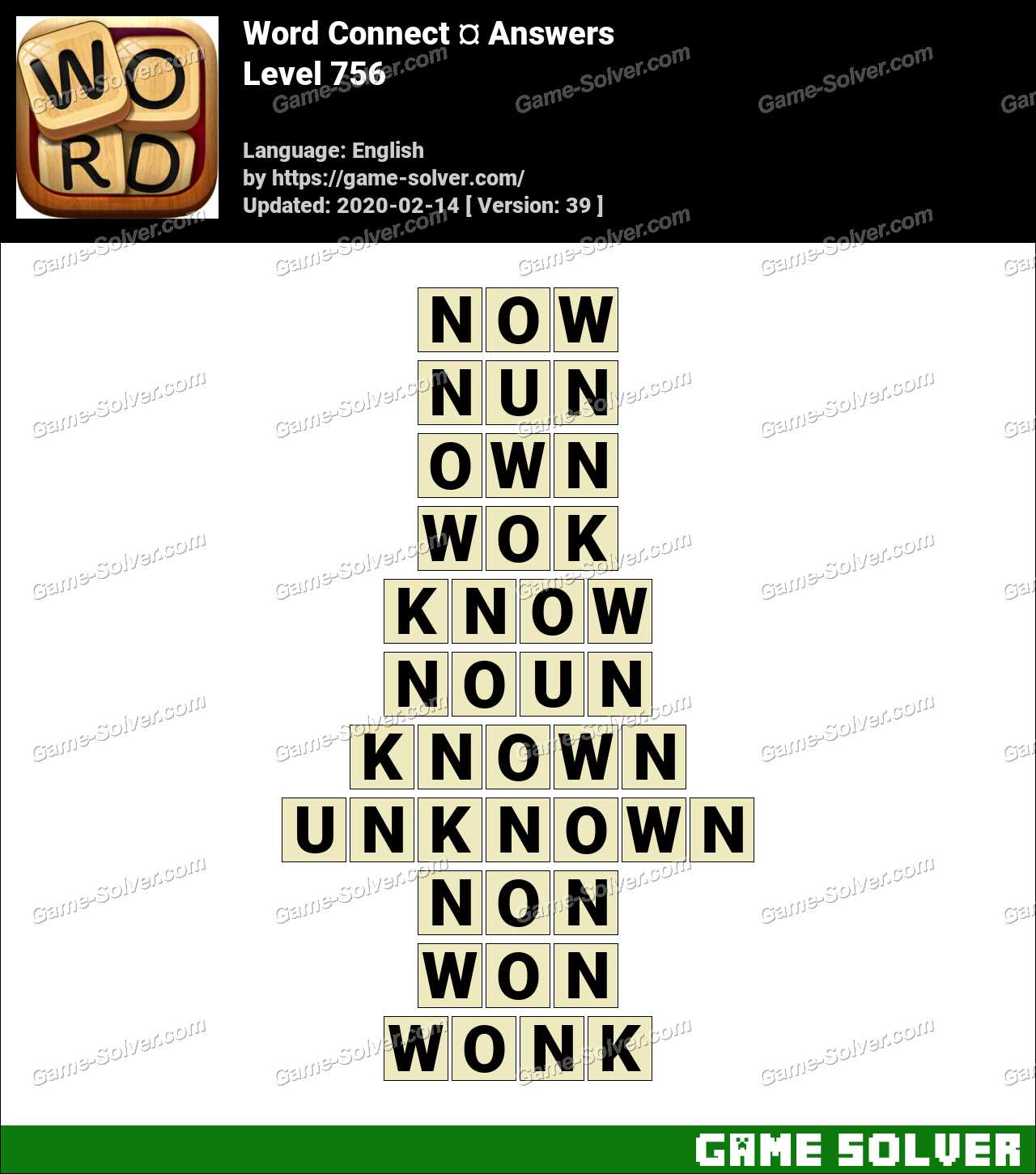 Word Connect Level 756 Answers