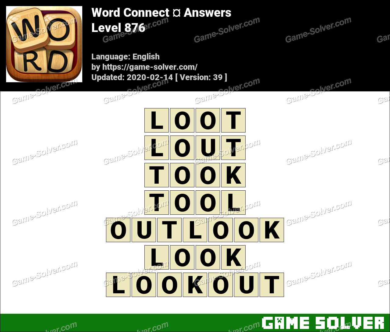 Word Connect Level 876 Answers