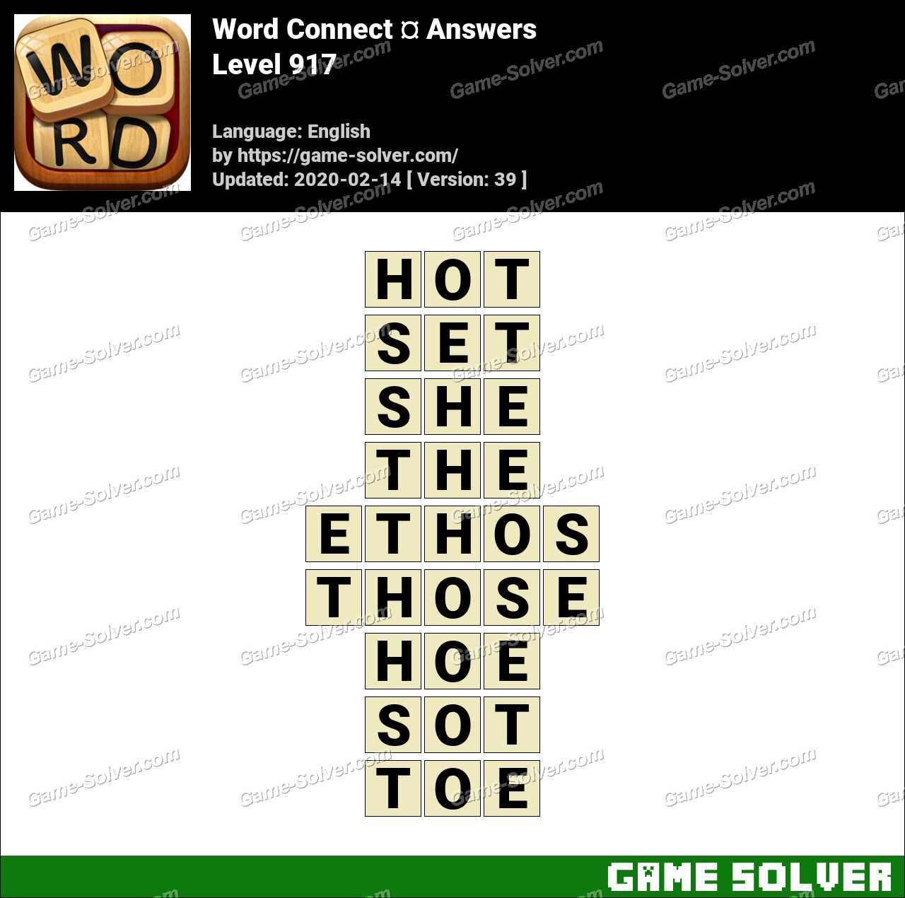 Word Connect Level 917 Answers