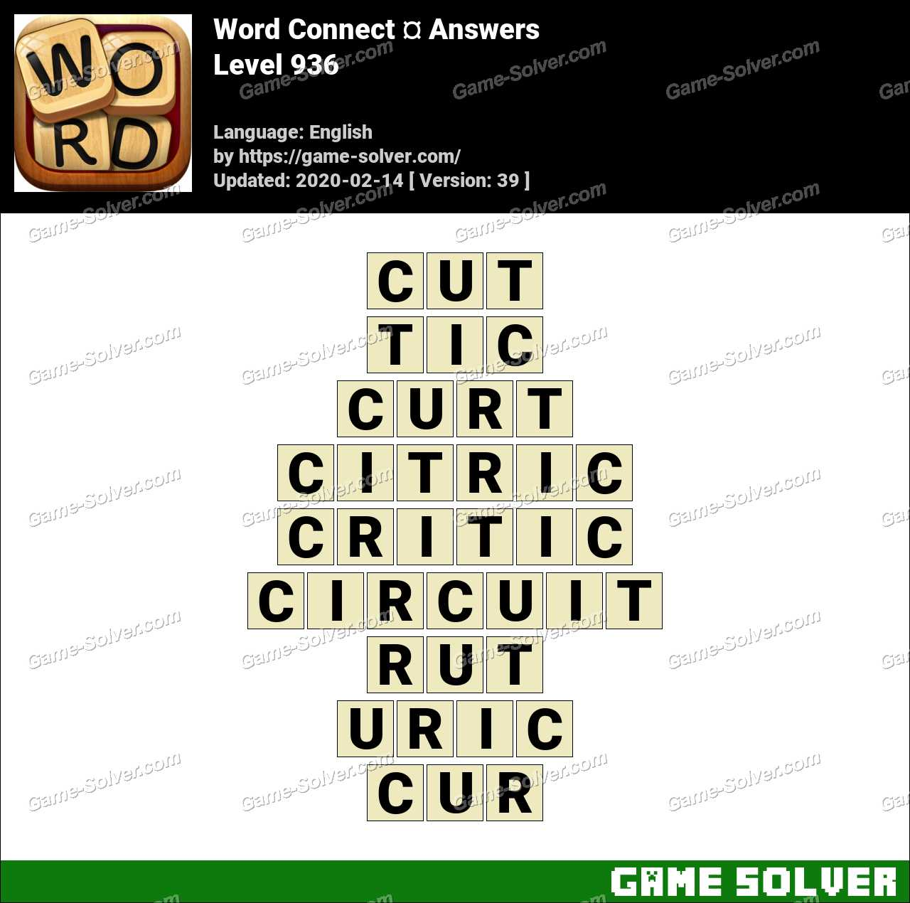 Word Connect Level 936 Answers