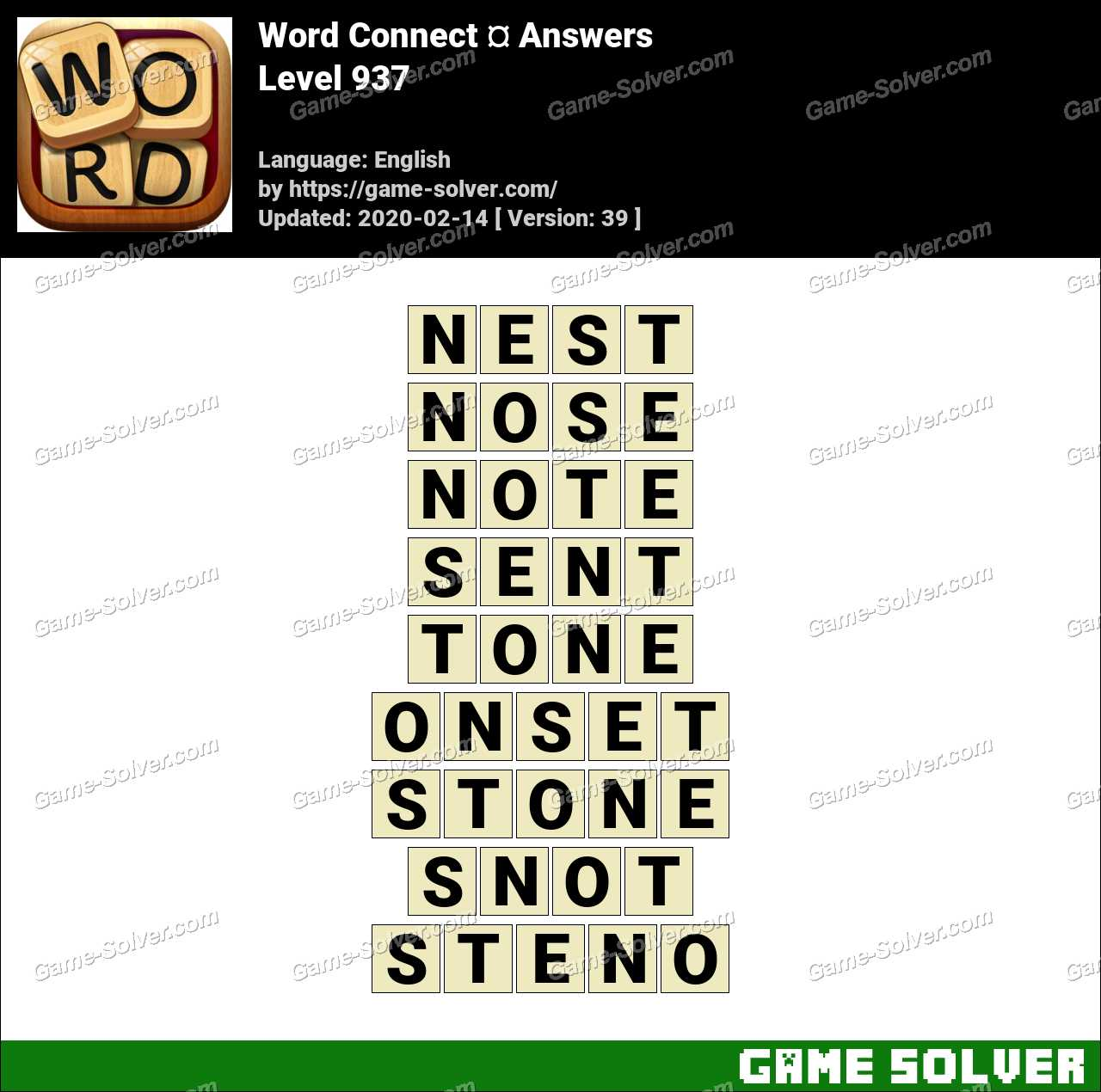 Word Connect Level 937 Answers