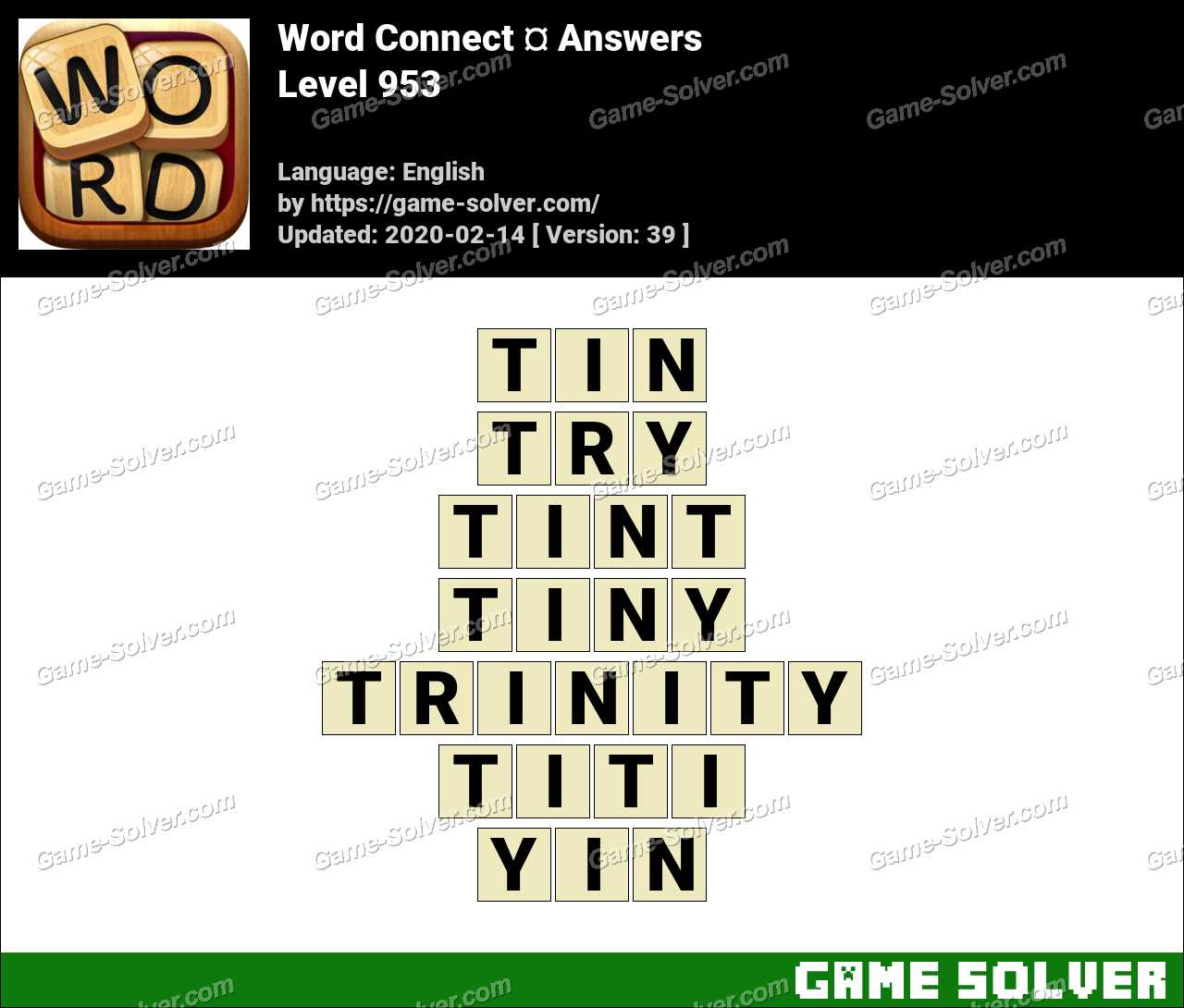 Word Connect Level 953 Answers
